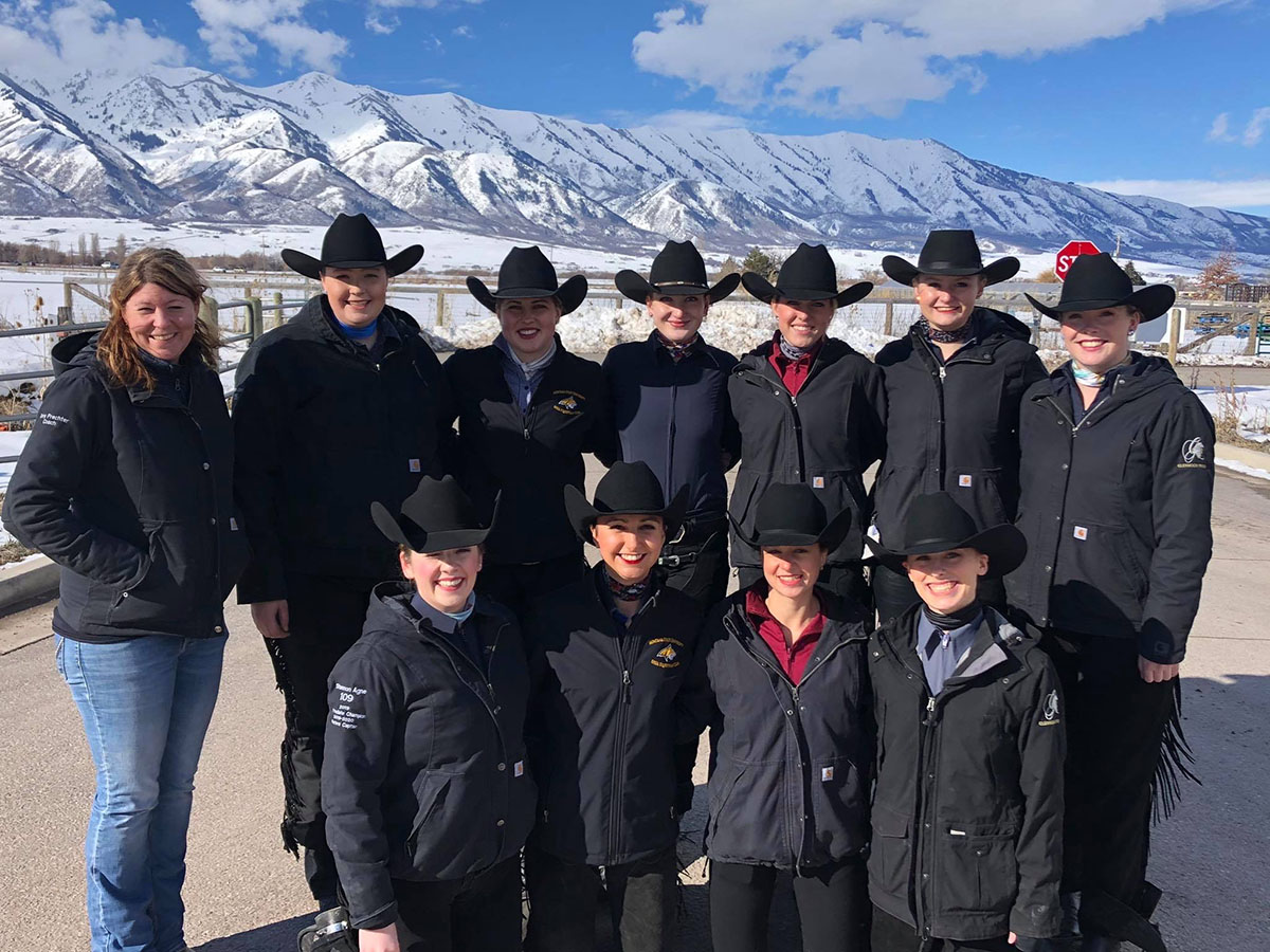 MSU IHSA Equestrian Team Competes at Utah State University