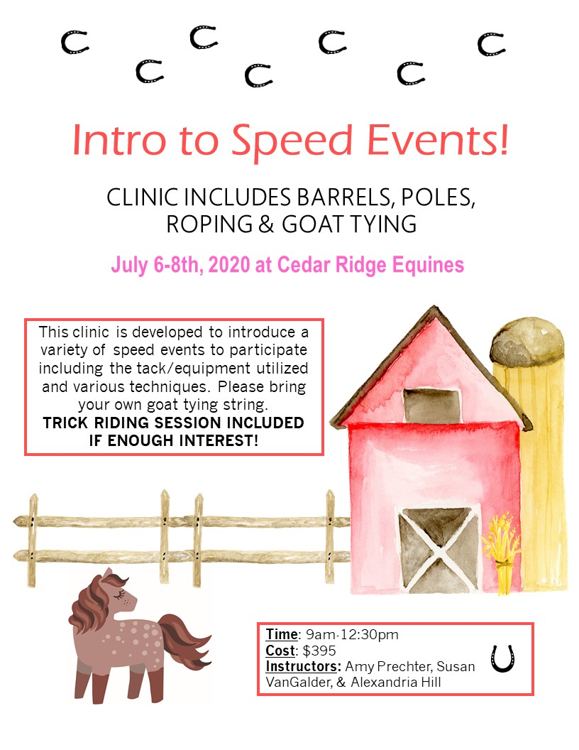 Upcoming Speed Event Clinic!